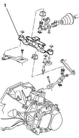 Снятие механизма переключения передач